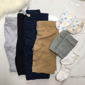🎉Bundle baby boy outfit bottoms socks C3